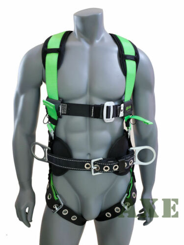 Miller Fall Protection Contractor Safety Construction Harness W/ Back Support