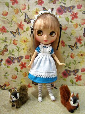 Blythe french maid dress Alice in wonderland blue outfit](Modern Alice In Wonderland Dress)