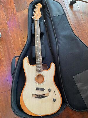 Fender Acoustasonic Stratocaster Acoustic-electric Guitar - Transparent Blue