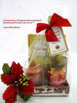 """Geschenkeset """"Klingende Weihnachtszeit"""" mit Buch / Kerze & Piccolo"""