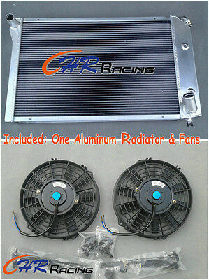 ALL ALUMINUM RADIATOR FOR 1977 1982 CHEVY CORVETTE 77 78 79 80 81 82  2 Fans