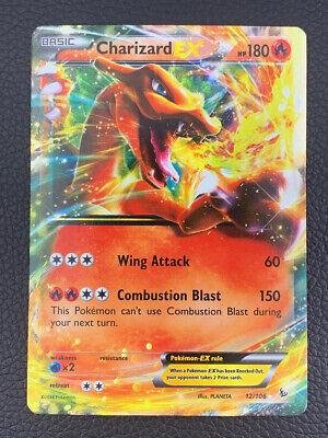 Pokemon 2014 XY Flashfire CHARIZARD EX Holo 12/106 - VERY LIGHTLY PLAYED