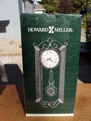 HOWARD MILLER CARMEN DECORATIVE QUARTZ WALL CLOCK MODEL 625-326 WROUGHT IRON NEW