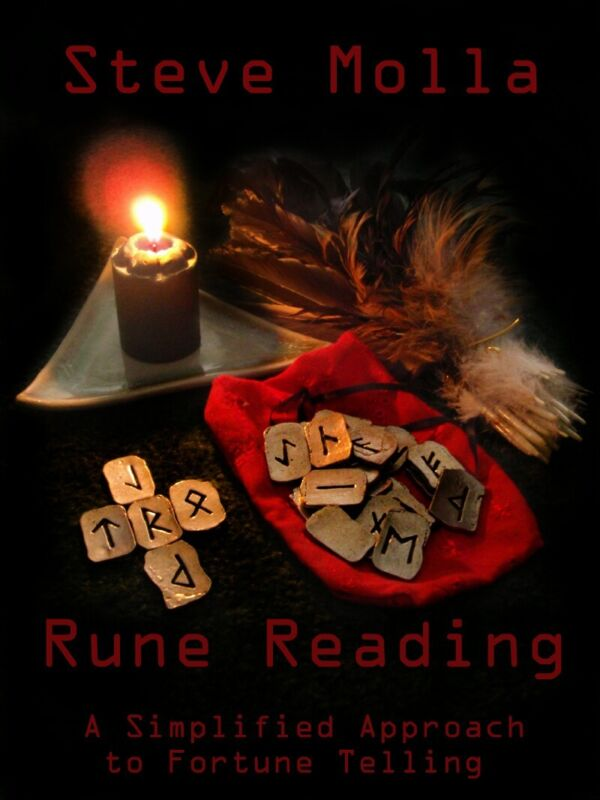 RUNE READING - A SIMPLIFIED APPROACH TO FORTUNE TELLING Book SIGNED BY AUTHOR