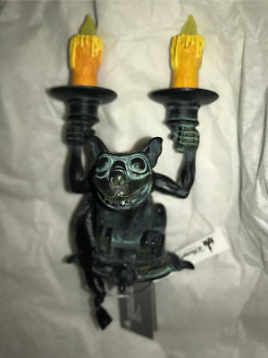 Disneyland Haunted Mansion  Light Up Gargoyle  Candlesticks Ornament  New