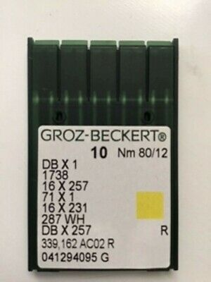 Groz-Beckert GB 16X231 ~ Nm 80//12FFG Pack of 10 Needles by Groz-Beckert