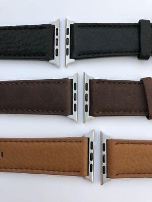 Apple Watch Lederarmband  42 mm in 3 Farben Top Qualität Uhr Smartwatch  ()