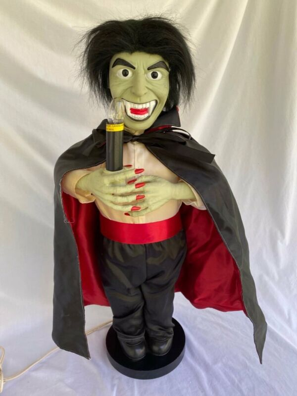 "Dracula Vampire Green Face Animated Motionette Halloween 24"" Telco Figure"
