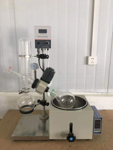 2L Lab Rotary Evaporator Manual Lifting Rotavapor Digital Condenser Good Seal US