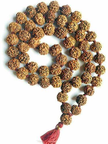 100% Nepali 108+1 Beads Rudraksha Small Mala 5 Faced 5 Mukhi