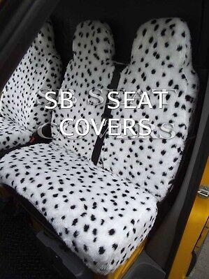 Passend für Fiat Ducato Van, Sitzbezüge, Benzin, Dalmatiner Kunst Flauschig Fell