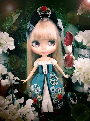 Blythe steam punk Alice in Wonderland blue dress outfit set](Modern Alice In Wonderland Dress)