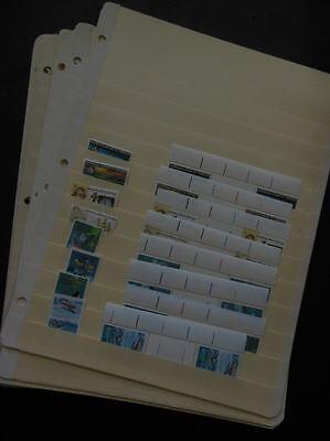 AUSTRALIAN ANTARCTICA : 1971-1995. Sc #L19-97 Cplt sgls & gutter pairs. Cat $322