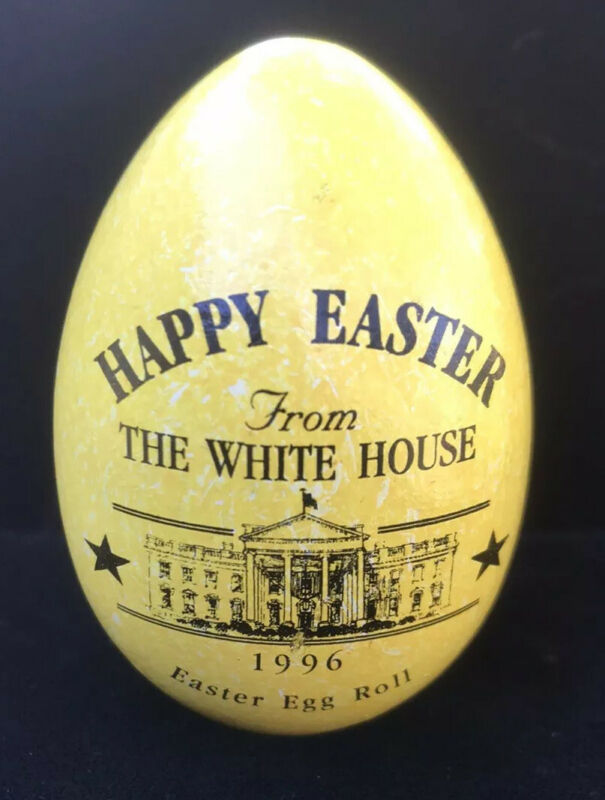 TWO 1996 White House Easter Eggs