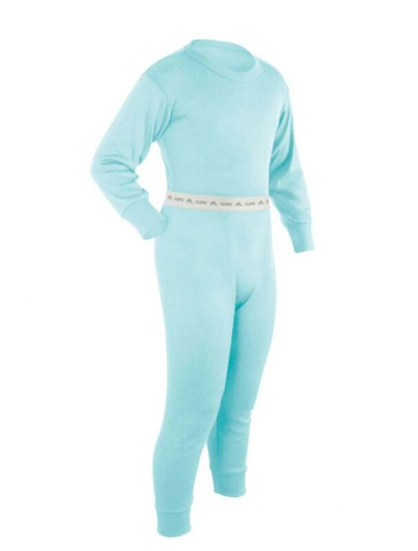 Coldpruf Youth Base Layer Set (top & bottom), Lt. Turquoise, Sm.