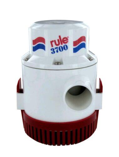 Rule 3700 Gph Non Automatic  Bilge Pump 1-1/2 Outlet 12V   14A