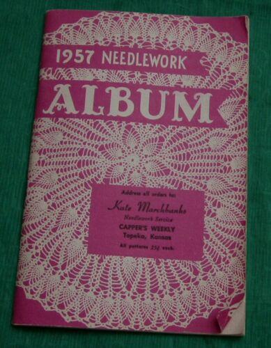 Vintage 1957 Needlework Album Pattern Catalog Cappers Weekly Topeka Ks. Sewing +