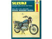 Haynes Workshop Manual For Suzuki GSX 400 T TX 1981-1984