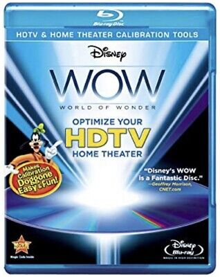 Disney WOW World of Wonder Blu-ray Optimize Your HDTV Home Theater NEW SEALED