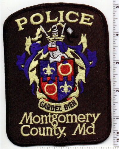 Montgomery County Police (Maryland) uniform take-off shoulder patch