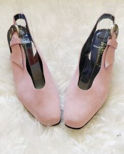 Jonny Lino Womens Leather Sling Back Pink  Shoes Size 6 Wedding Guest Party