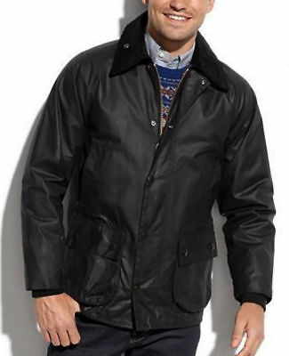 NWT $379 BARBOUR BEDALE Wax Cotton Jacket Waterproof Tartan Lined Coat 36 Small