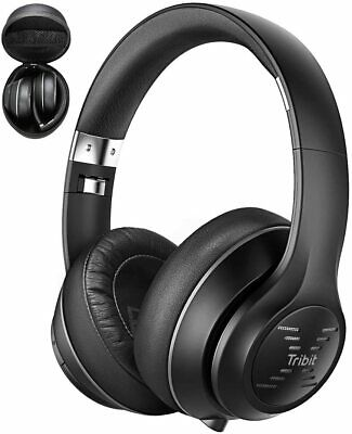 Tribit XFree Tune Bluetooth Headphones Over EarHi-Fi Stereo Sound Built-in Mic