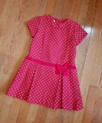 Bella Bliss 5 Girls Dress Short Sleeve Red White Polka Dot Girl 5t