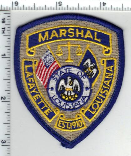 Lafayette Marshal (Louisiana) Cap/Hat Patch from the 1980