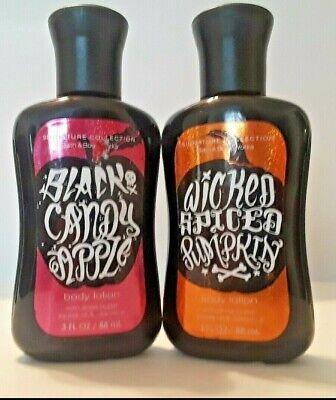 BBW Halloween Body Lotion Black Candy Apple OR Wicked Spiced Pumpkin 3oz