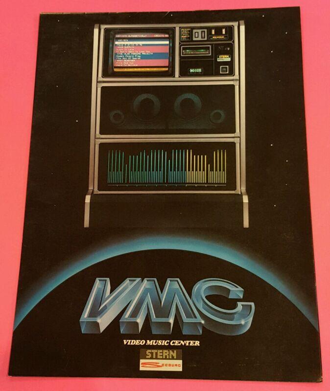 VMC VIDEO MUSIC CENTER By STERN SEEBURG 1981 ORIGINAL JUKEBOX FLYER BROCHURE