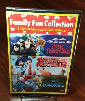 Cloudy with a Chance of Meatballs/Hotel Transylvania/Smurfs(DVD)NEW-Free Shippin