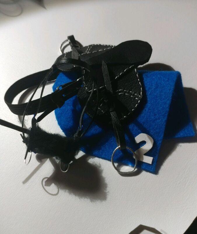 Traditional CM OOAK/LSQ Breyer Racing Set Black