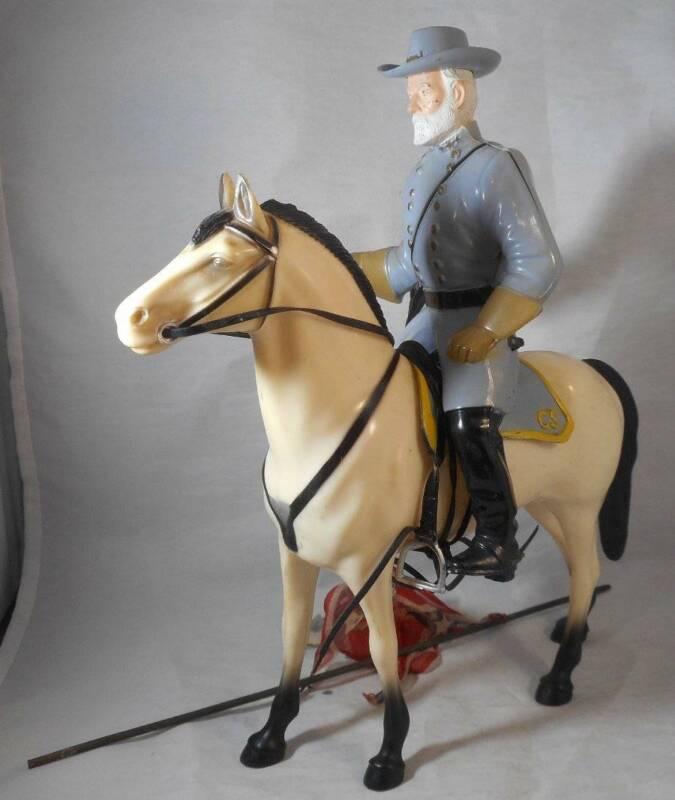 Vintage 1960s Hartland Horse and Rider Set Robert E Lee Civil War Traveller