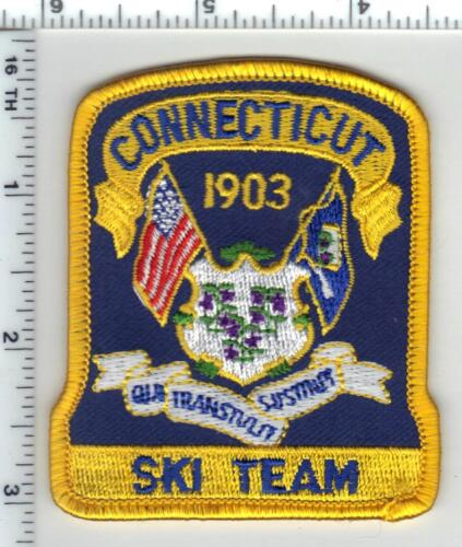 Connecticut State Police Ski Team Cap/Hat Patch - new from the 1990