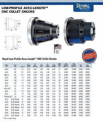 Royal Accu Length Cnc Lathe 16c Collet Chuck 42342 Spindle A2-8