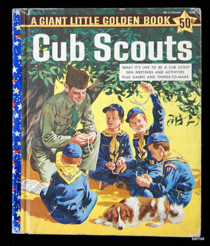 VINTAGE  BOY SCOUT  - 1959 CUB SCOUT LITTLE GOLDEN BOOK - FREE SHIPPING