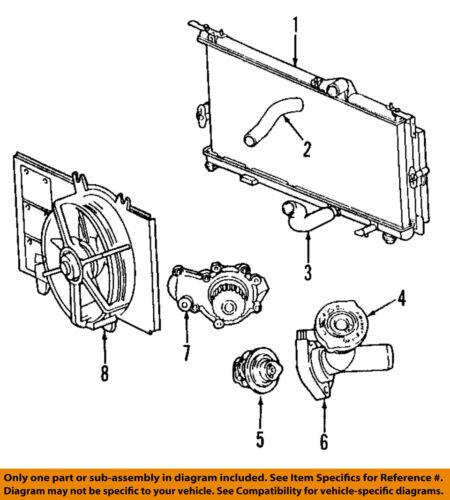 chrysler oem-engine water pump 4884159ae | ebay 2003 pt cruiser engine diagram  ebay
