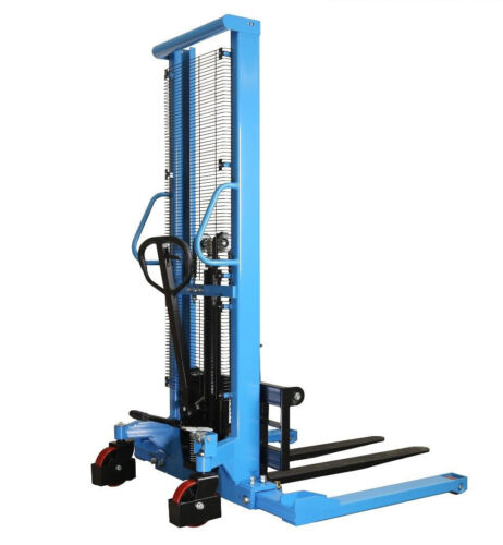 """Manual Forklifts Pallet Stackers Hand Pump Operated Lift Trucks 63""""Lift 2200lb"""