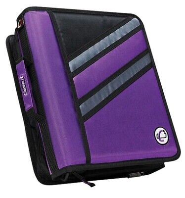 Case-it Z-design Zippered Binder With Tab File D-ring Z-176 D-146 Oxford Purple