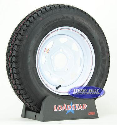Kenda Loadstar Trailer Tire St175 80d13 On 5 Lug White Spoke Wheel