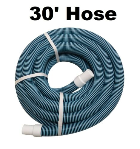 "Swimming Pool Standard Vacuum Pool Hose 30' Section 1-1/2"" D"