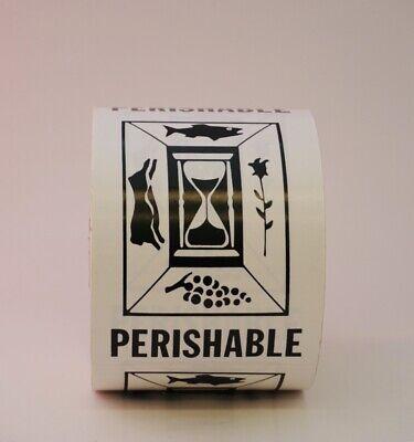 Perishable Labels 3 X 4 - 500 Per Roll - Shipping Label