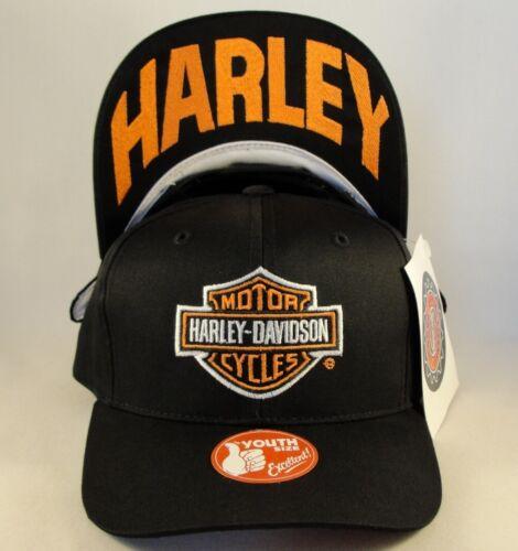 Kids Youth Size Harley Davidson Vintage Snapback Hat Cap Harley Underbrim