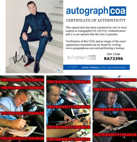 MATT DAMON signed Autographed 8X10 PHOTO b PROOF - SEXY Ford v Ferrari ACOA COA