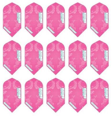 5 New Sets Winmau Rhino Slim 100 Micron Dart Flights – Pink Floral