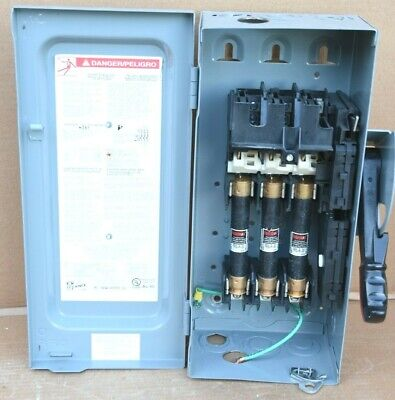 Square D Heavy Duty H361 30 A Fused Safety Disconnect Switch 600 Vac Wfuses Usa