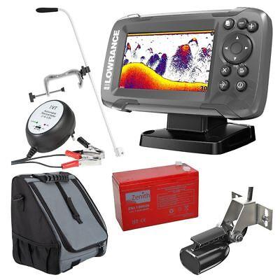 Lowrance Echolot GPS Fischinder Portabel Basic Komplettsystem Hook2 4X GPS