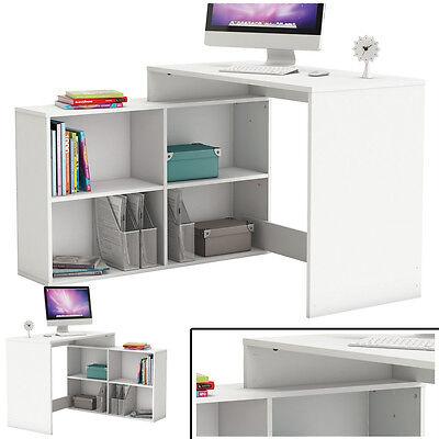 Eck-Schreibtisch WEISS #460 Schreibtisch Computertisch Eckschreibtisch PC-Tisch