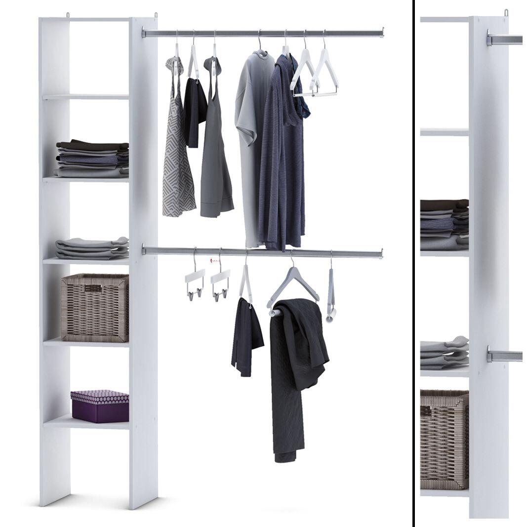 Wunderbar Schranksystem Offen Das Beste Von Kleiderschrank 67-35 Begehbar Weiß Schrank Kleiderständer Garderobe